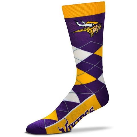 Minnesota Vikings Argyle Lineup Socks