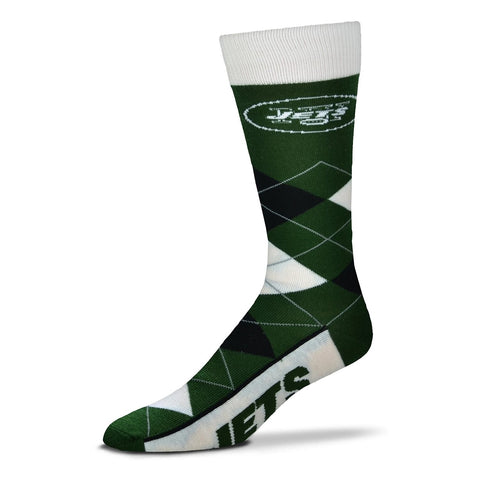 New York Jets Argyle Lineup Socks
