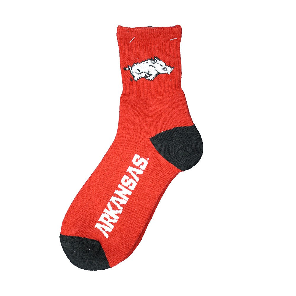 Arkansas Razorbacks Team Color Crew Socks