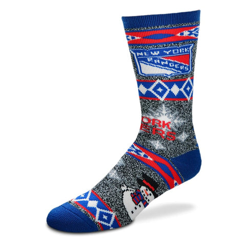 New York Rangers Holiday Blanket Motif Socks