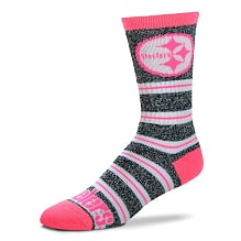Pittsburgh Steelers Melange Stripe Pink Socks