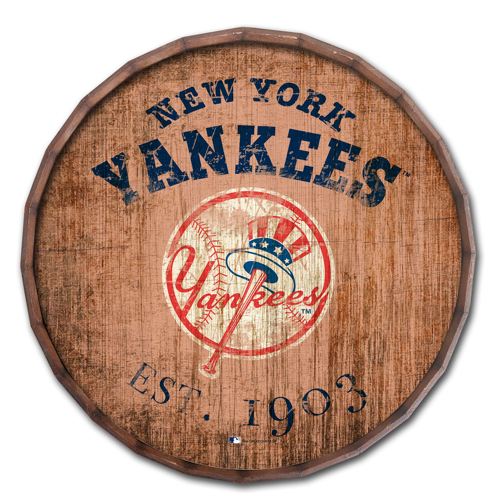 "New York Yankees 24"" Established Date Barrel Top"