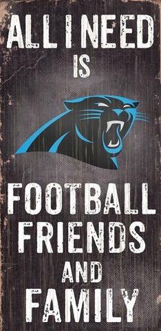 Carolina Panthers Football, Friends & Family Wooden Sign