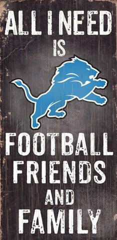 Detroit Lions Football, Friends & Family Wooden Sign