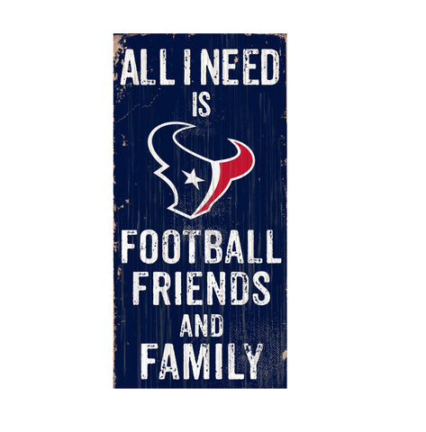 Houston Texans Football, Friends & Family Wooden Sign
