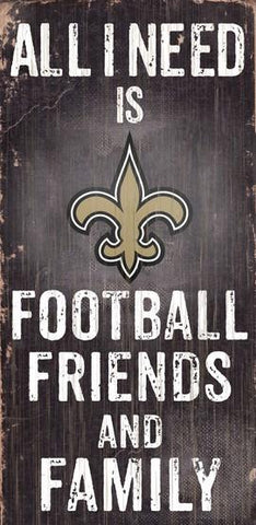 New Orleans Saints Football, Friends & Family Wooden Sign