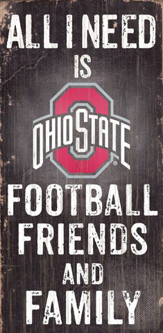 Ohio State Buckeyes Football, Friends & Family Wooden Sign