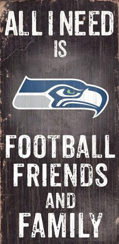 Seattle Seahawks Football, Friends & Family Wooden Sign