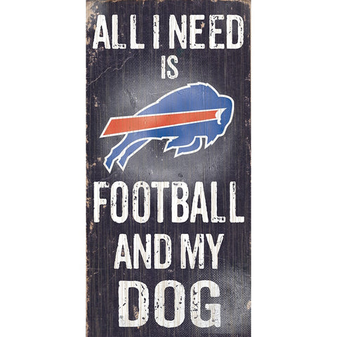 Buffalo Bills Football and My Dog Wooden Sign