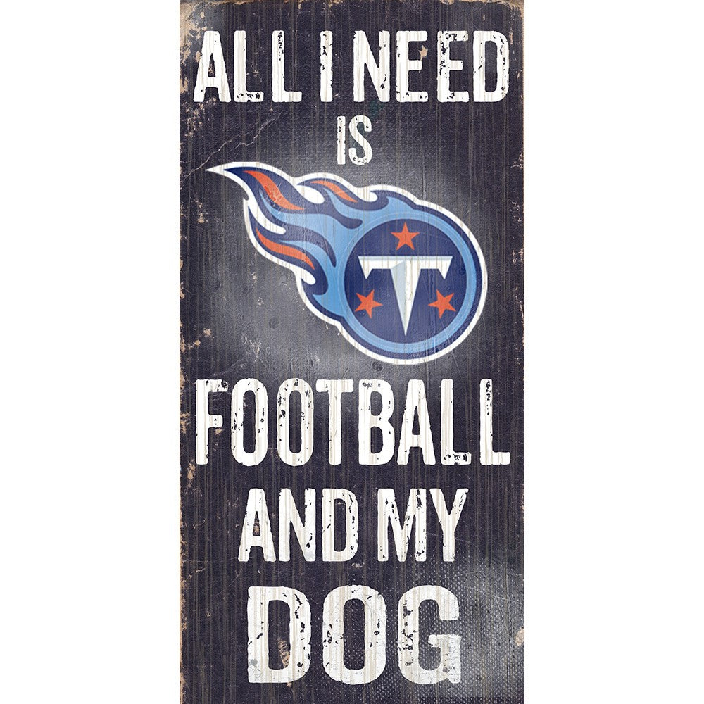 Tennessee Titans Football and My Dog Wooden Sign