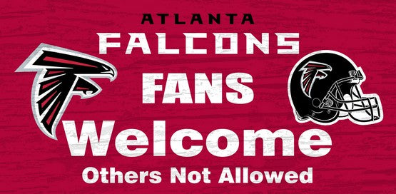 Atlanta Falcons Fans Welcome Wooden Sign