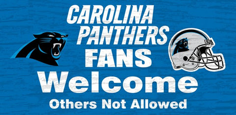 Carolina Panthers Fans Welcome Wooden Sign
