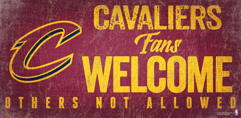 Cleveland Cavaliers Fans Welcome Wooden Sign