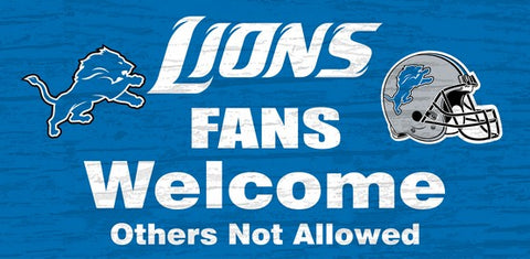 Detroit Lions Fans Welcome Wooden Sign