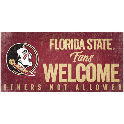 Florida State Seminoles Fans Welcome Wooden Sign