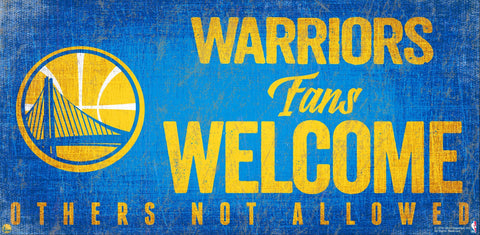 Golden State Warriors Fans Welcome Wooden Sign