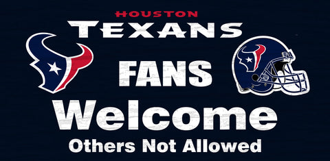 Houston Texans Fans Welcome Wooden Sign