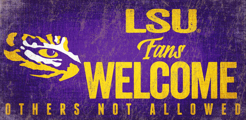 LSU Tigers Fans Welcome Wooden Sign