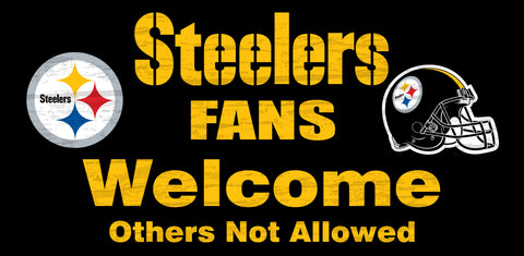 Pittsburgh Steelers Fans Welcome Wooden Sign