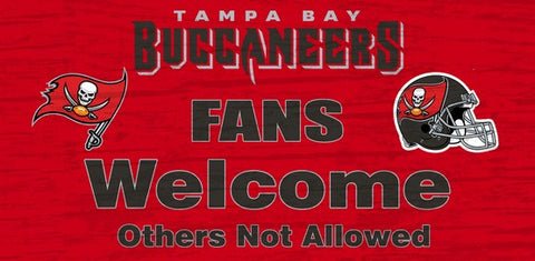Tampa Bay Buccaneers Fans Welcome Wooden Sign