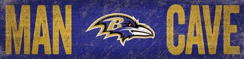 Baltimore Ravens Man Cave Wooden Sign