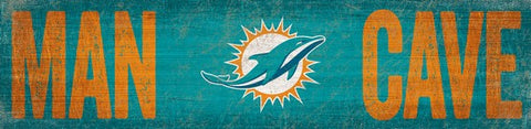 Miami Dolphins Man Cave Wooden Sign
