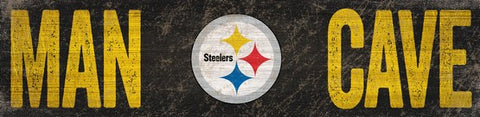Pittsburgh Steelers Man Cave Wooden Sign