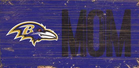 Baltimore Ravens Mom Wooden Sign