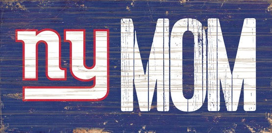 New York Giants Mom Wooden Sign