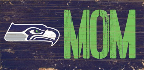 Seattle Seahawks Mom Wooden Sign