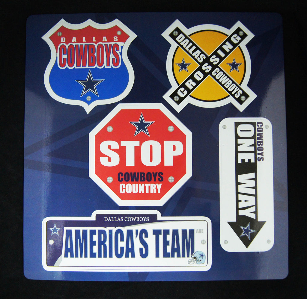 Dallas Cowboys Road Sign Magnet Sheet