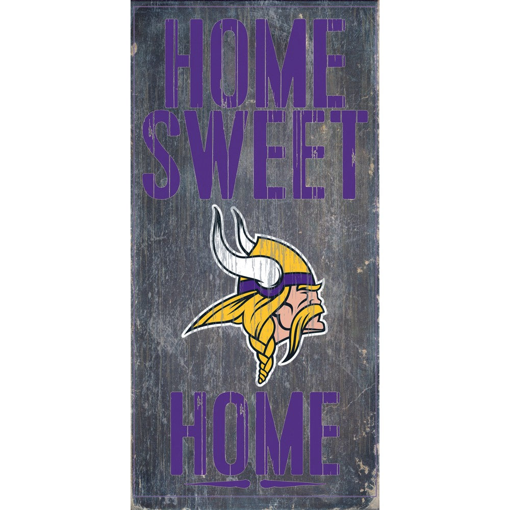 Minnesota Vikings Home Sweet Home Wooden Sign