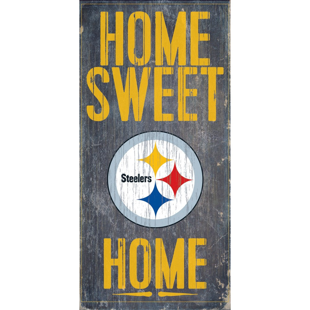 Pittsburgh Steelers Home Sweet Home Wooden Sign
