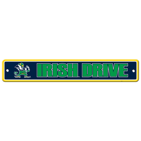 Notre Dame Fighting Irish Drive Sign