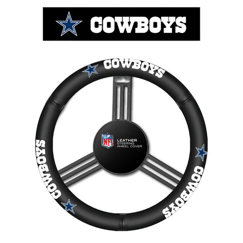 Dallas Cowboys Leather Steering Wheel