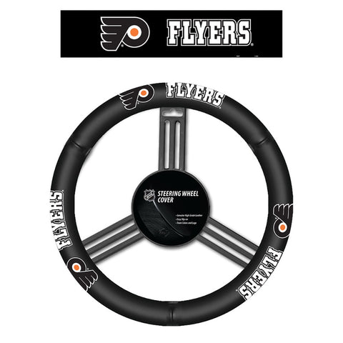 Philadelphia Flyers Leather Steering Wheel
