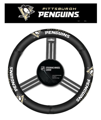Pittsburgh Penguins Leather Steering Wheel