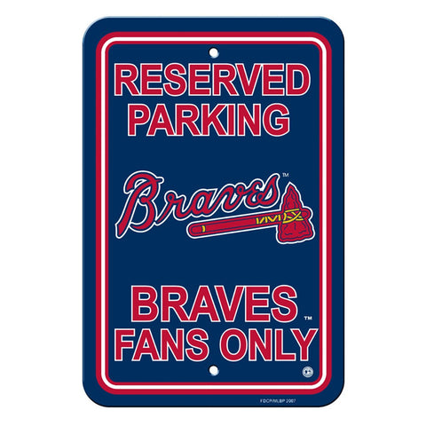Atlanta Braves Reserved Parking Sign