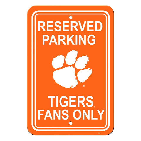 Clemson Tigers Reserved Parking Sign