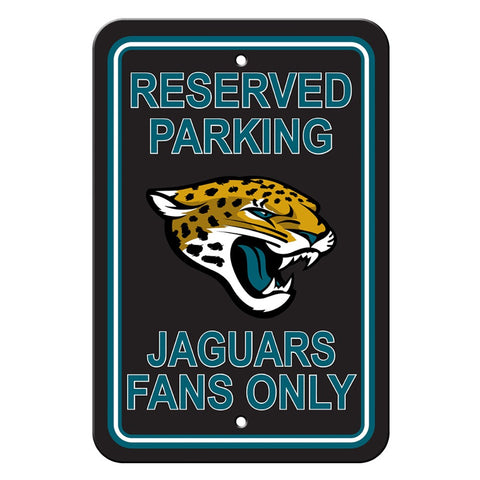Jacksonville Jaguars Reserved Parking Sign