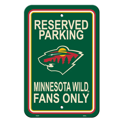 Minnesota Wild Reserved Parking Sign