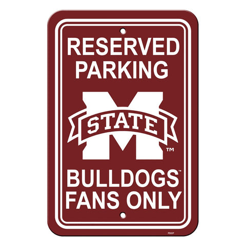 Mississippi State Bulldogs Reserved Parking Sign