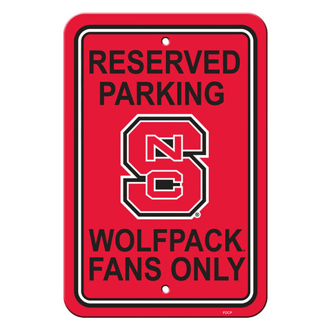 NC State Wolfpack Reserved Parking Sign