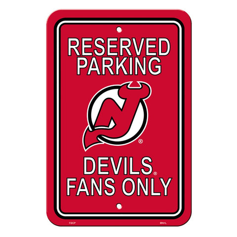 New Jersey Devils Reserved Parking Sign