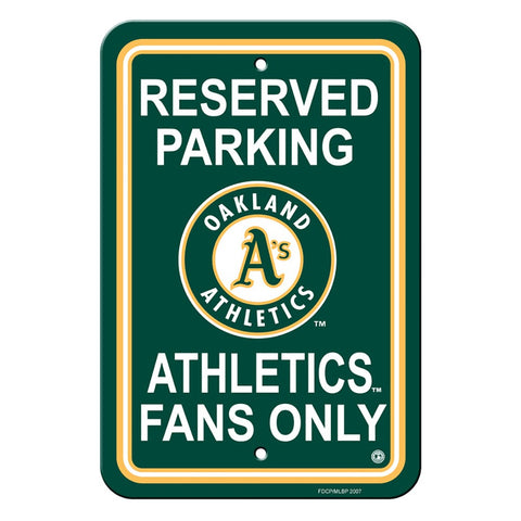 Oakland Athletics Reserved Parking Sign