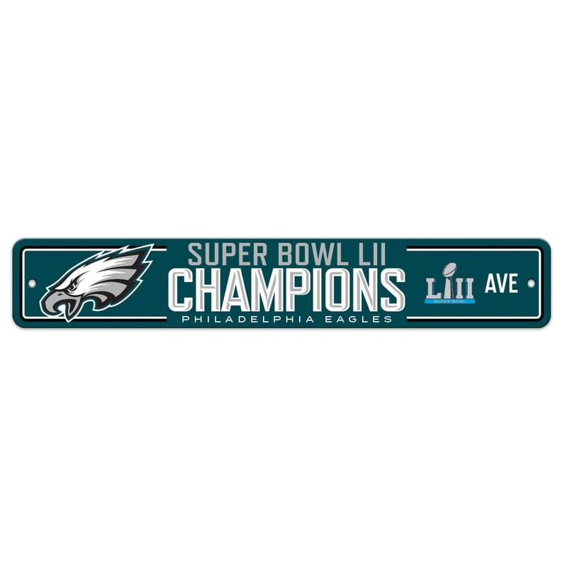 Philadelphia Eagles Super Bowl LII Champions Street Sign
