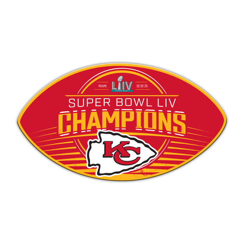 "Kansas City Chiefs Super Bowl LIV Champion 12"" Magnet"