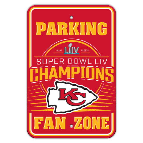 Kansas City Chiefs Super Bowl LIV Champion Parking Sign