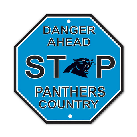 Carolina Panthers Stop Sign