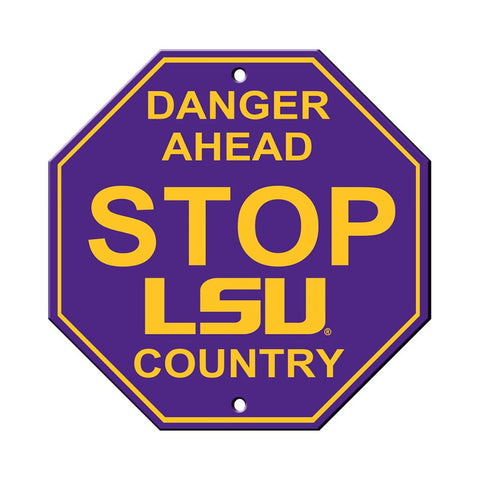 LSU Tigers Stop Sign